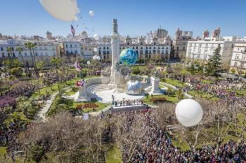 Plaza de España e Monumento alle Cortes di Cadice